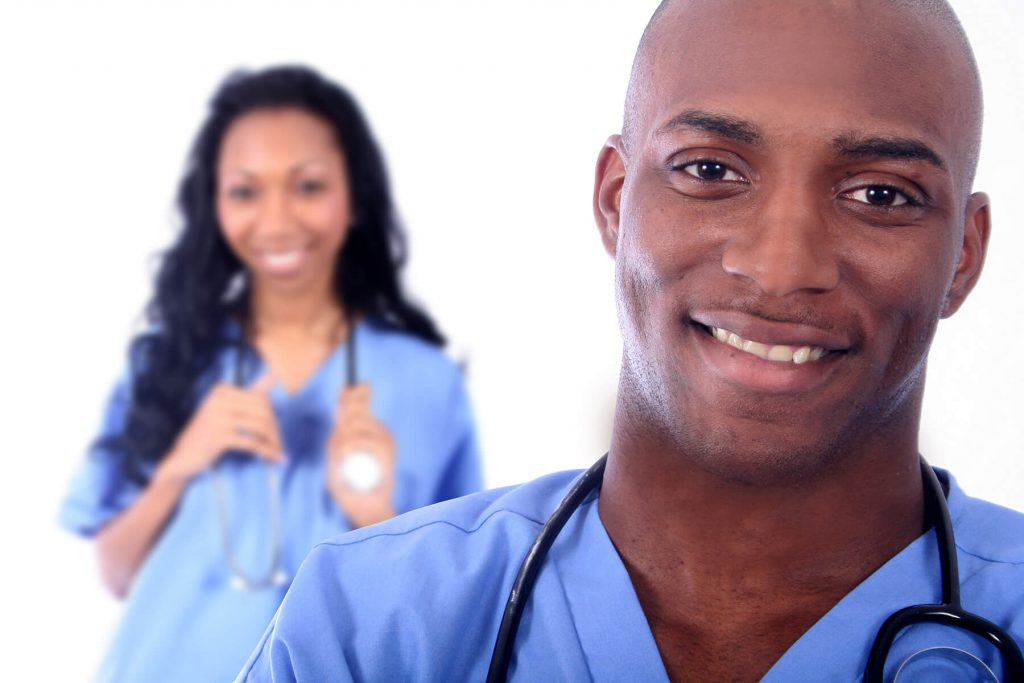 African American Man and Woman as Medical Workers